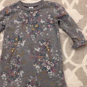 Woodland floral baby zipper dress